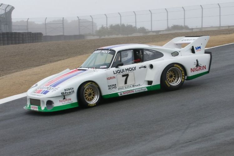 1979 Porsche 935J on a slippery wet track driven by Stephen Harris.