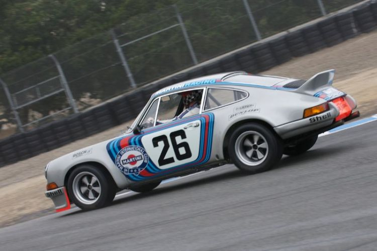 1973 Porsche 3.0 RSR Prototype driven by Brad Hook.