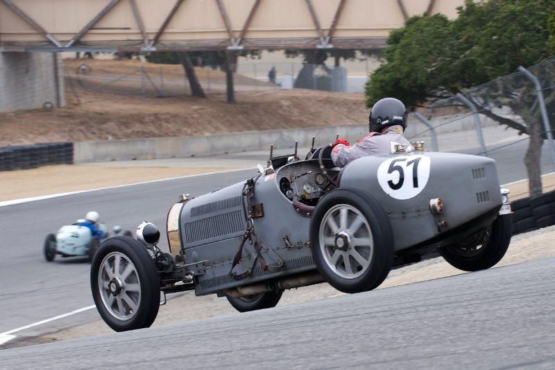 Hubert Jaunin in his 1933 Bugatti Type 51.