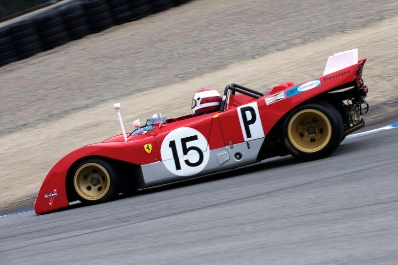 1971 Ferrari 312PB driven by Ernie Prisbe.