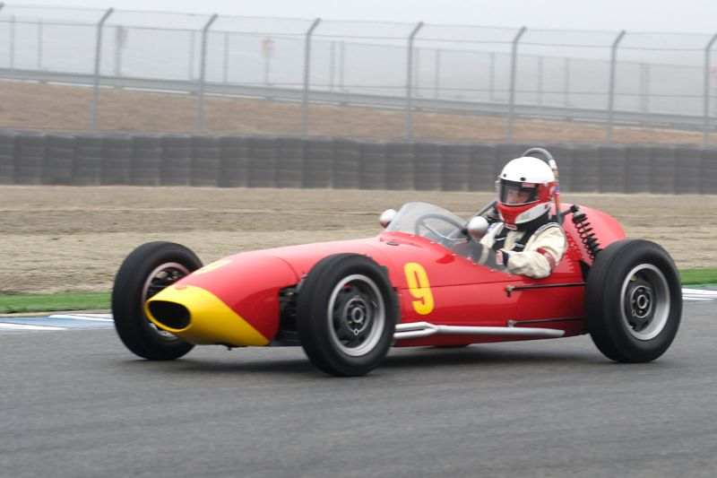 Bruce John's in his 1960 Huffaker F-Jr.