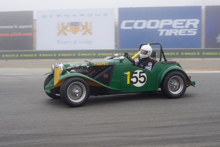 Karim Marouf in  his quick 1951 MG TD.