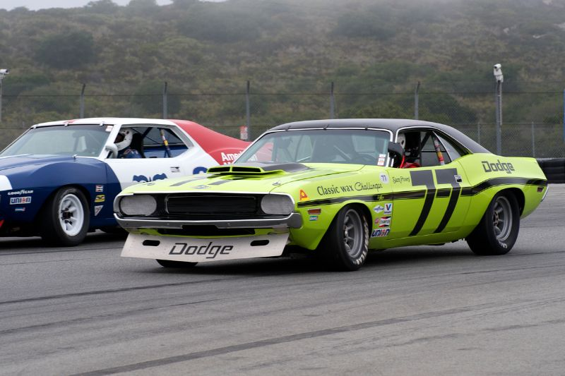 Ken Epsman in his 1970 Dodge Challenger.