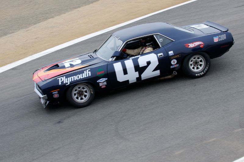 Andy Boone in his quick 1970 Plymouth Barracuda.