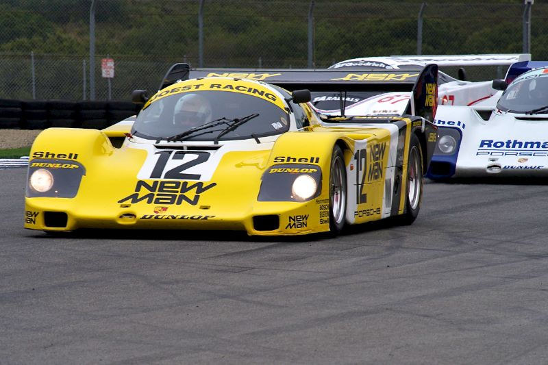 Scott Hansen in his 1983 Porsche 956C.