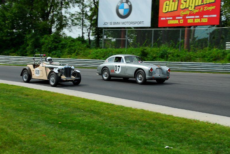 1953 Aston Martin DB2/4- Luca Maaciucescu, #928- 1951 MG TD- Frank Filangeri.