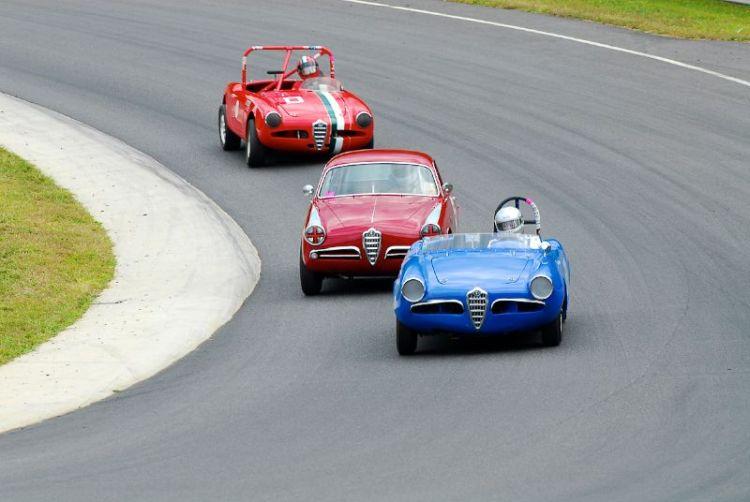 Alfa Romeo's at the Uphill Turn.