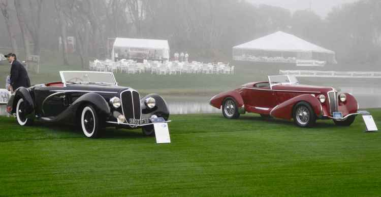 1938 Delahaye 135MS Competition Cabriolet and 1935 Amilcar Pegase