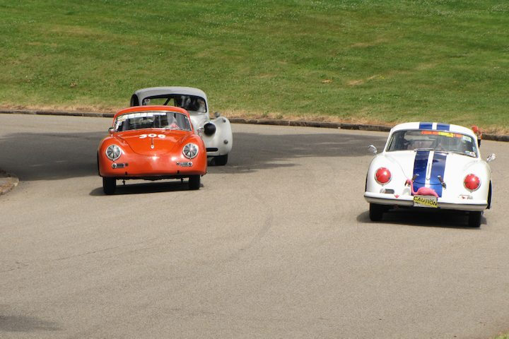 Porsche 356s hold off Jaguar XK120