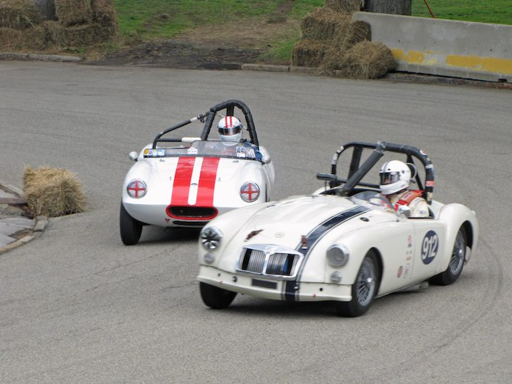 1959 MG A and Elva Courier