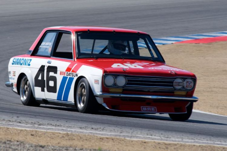 John Morton hustles his 1970 Datsun 510 through five.