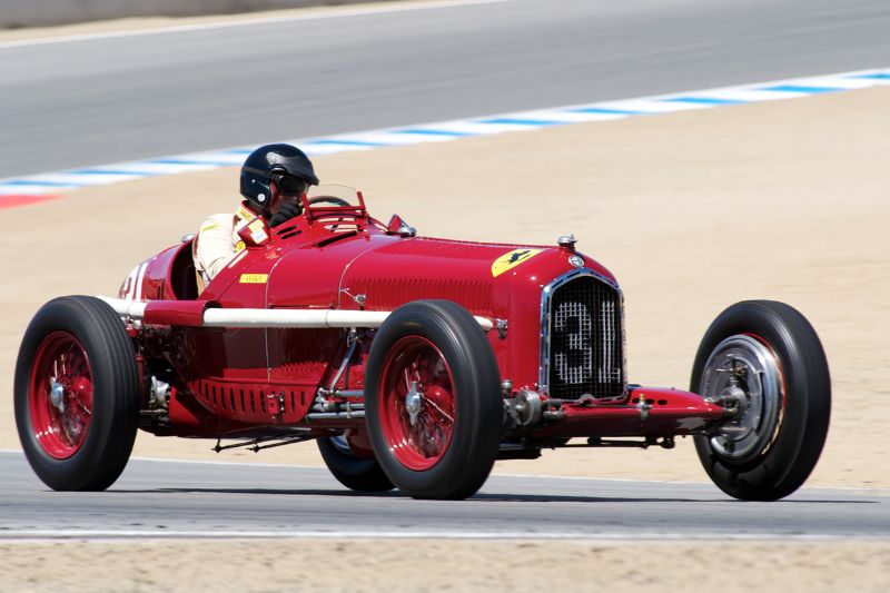 Peter Giddidngs in his 1930 Alfa Romeo Tipo B P3.