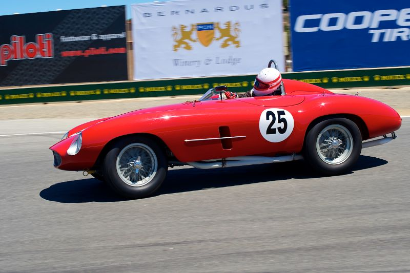 Erickson Shirley in his 1954 Ferrari 500 Mondial.