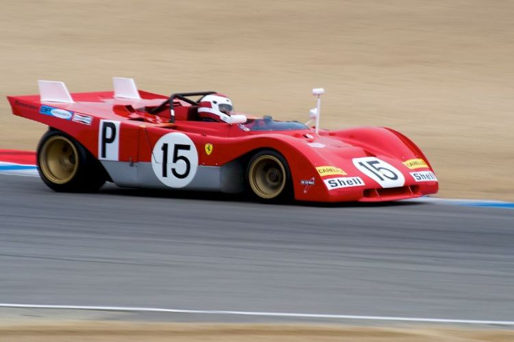 Ernie Prisbe's 1971 Ferrari 312PB in turn five.
