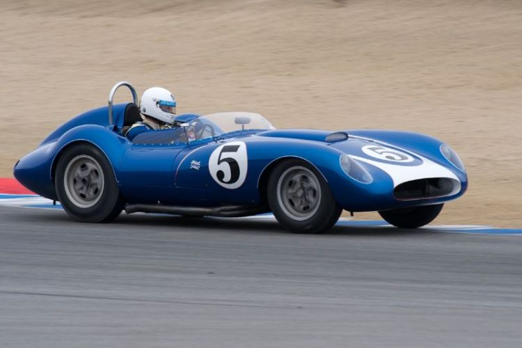 John Morton in the 1958 Scarab Sports Racer.