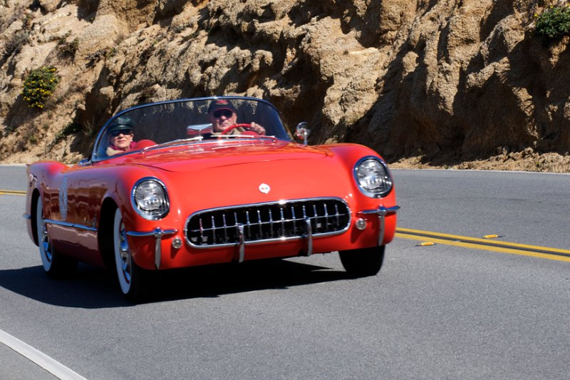 Dick Deluna's 1955 Chevrolet Corvette.