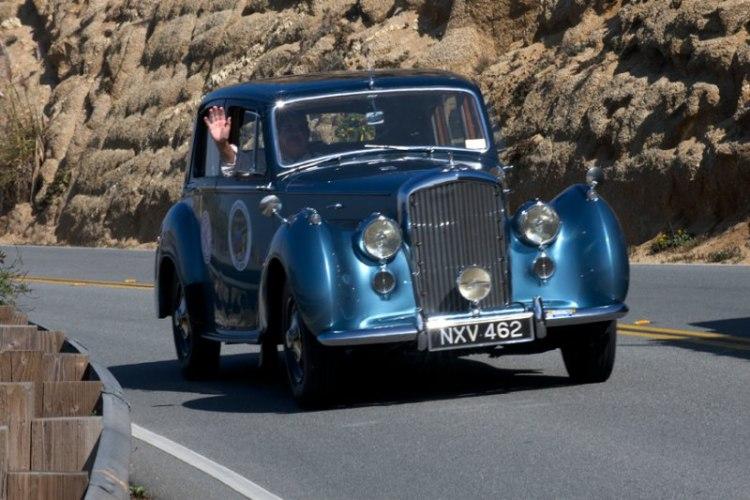 Bob Nicholson's 1953 Bentley R Type on Devils Slide.
