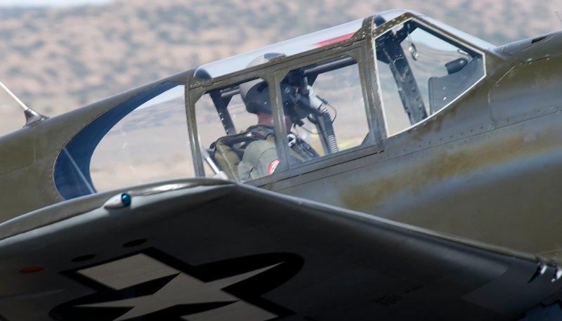 Dave Morss in 'Polar Bear'. P-51A Mustang.