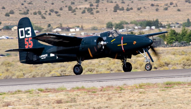 Unlimited. F7F-3 Tigercat, Here Kitty Kitty. Stewart Dawson.