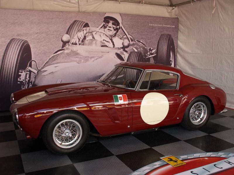 Ferrari Classiche stand with a SEFAC Ferrari 250 GT SWB