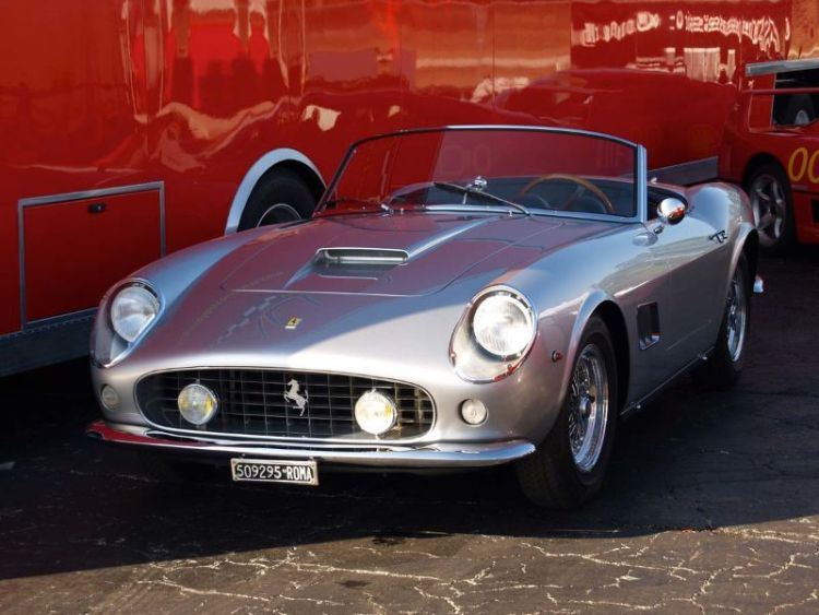 Ferrari 250 GT SWB California, still with the original Italian plate