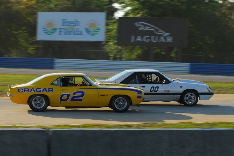 Dale Lagasse, 1985 Ford Mustang Battles the #02- 1969 Camero of David Roberts.