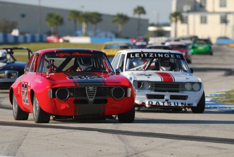 Bill Abel1966 Alfa Romeo GTV and the DatsunPL510 of Bob Leitzinger.