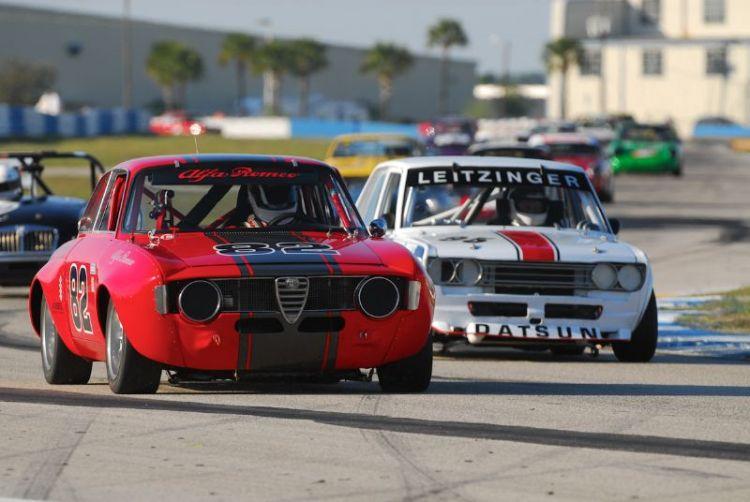 Bill Abel1966 Alfa Romeo GTV and the DatsunPL510 of Bob Leitzinger.