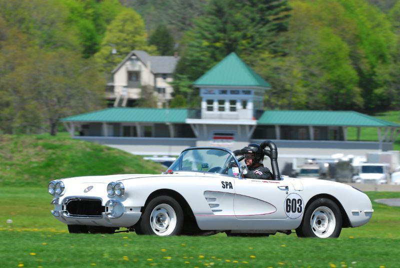 Dana Wood in his stunning 1959 Corvette.