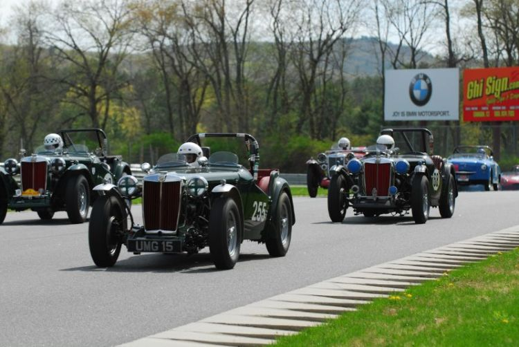 MG-TD and TC's hold the front row at the start of the days first race.
