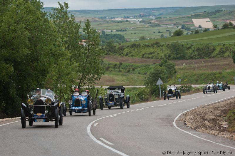 Bugatti Tour on the road