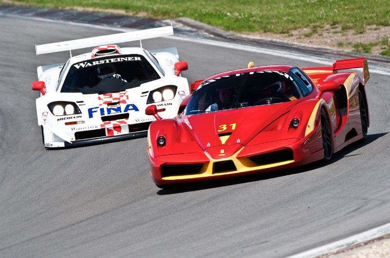 Ferrari FXX and McLaren F1 GTR