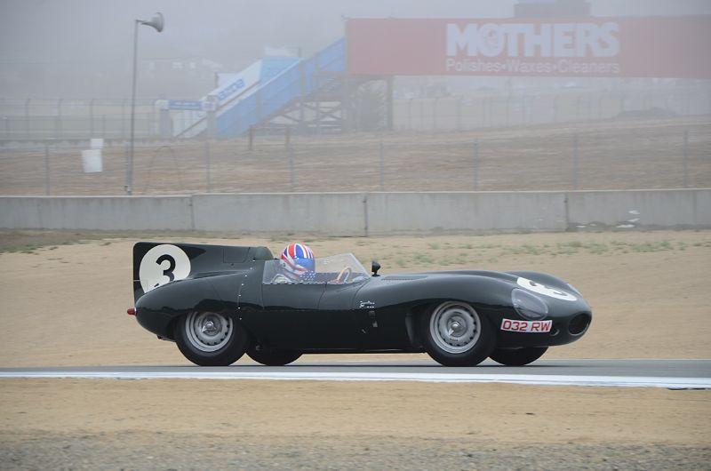 Gregory Johnson in his 1956 Jaguar D-type.