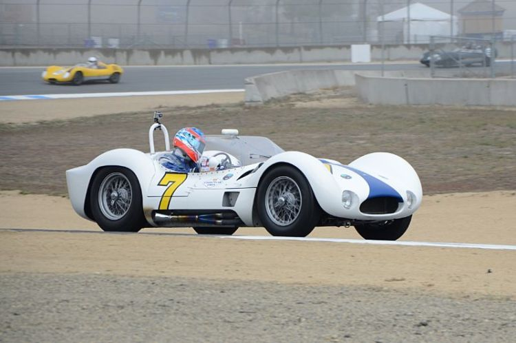 Maserati Tipo 61 Birdcage driven by Jonathan Feiber.