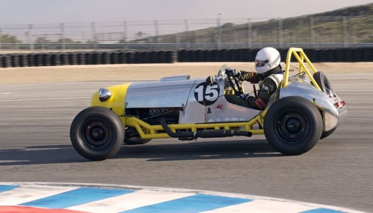 Rob Manson in his fast 1952 Manning Special.