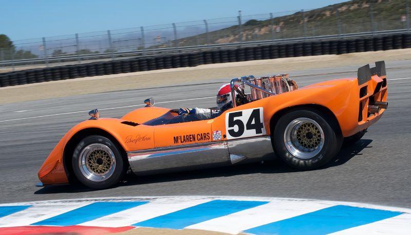 Jim Pace in his McLaren M6B in turn eleven.