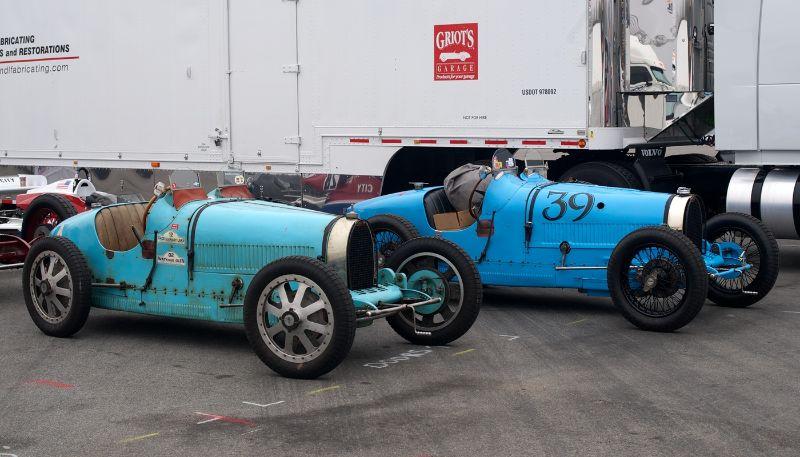 L to R: Bugatti Type 35 and Bugatti Type 39A.