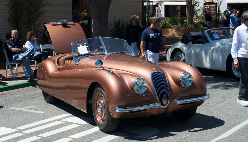 Jaguar XK 120 OTS. Owned and driven by Mike Harris.