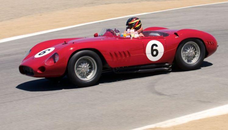 Jon Shirley in his 1957 Maserati 300S.