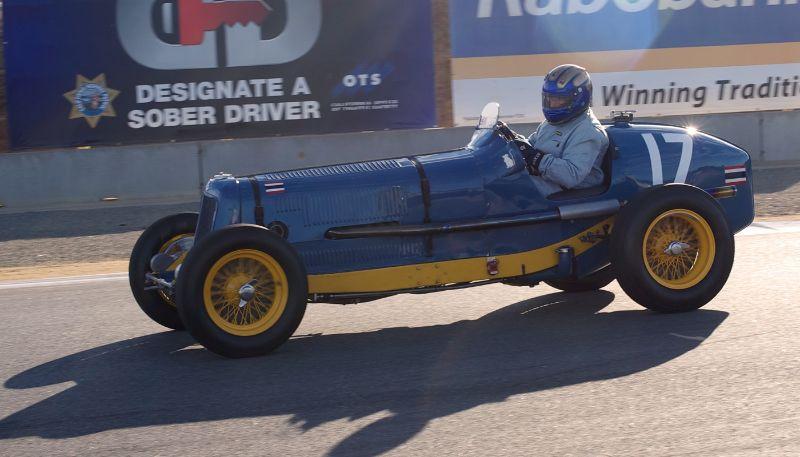 Pre-Reunion, Sunday. 1925 ERA driven by Greg Whitten.