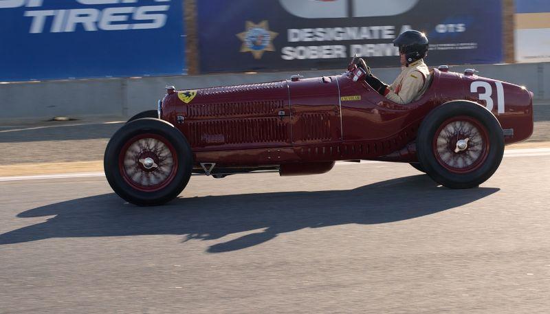 Pre-Reunion, Sunday. Peter Giddings in his Alfa Romeo Tipo B P3.
