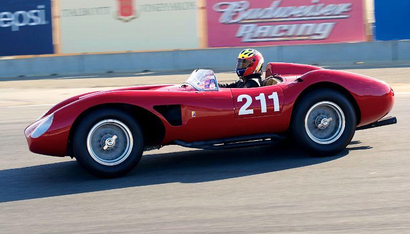 2011 Pre-Reunion, Sunday. Michael Callaham in his 1957 Ferrari 625TRC.