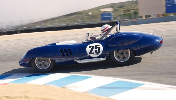 Erickson Shirley bends his Costin Lister Chevrolet into turn eleven.