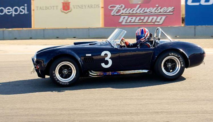 427 Shelby Cobra into turn eleven, Greg Johnson.
