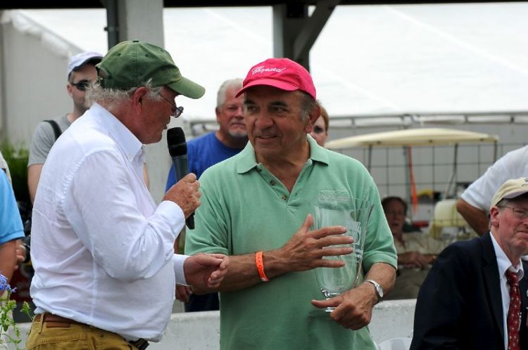 Murray Smith, Chairman of LRP Historic Festival chats with Dr. Fred Simeone.