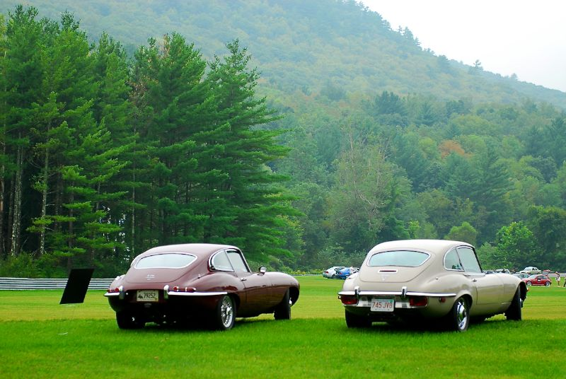 A Pair of E-Type Jaguars.