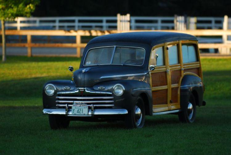 "1947 Ford Station Wagon ""Woodie"" Thomas Dooley."