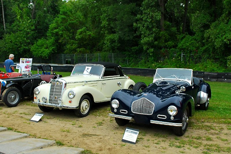 1951 Allard K2 Roadster and 1954 Mercedes-Benz 220A Cabriolet, Arlo Guthrie.