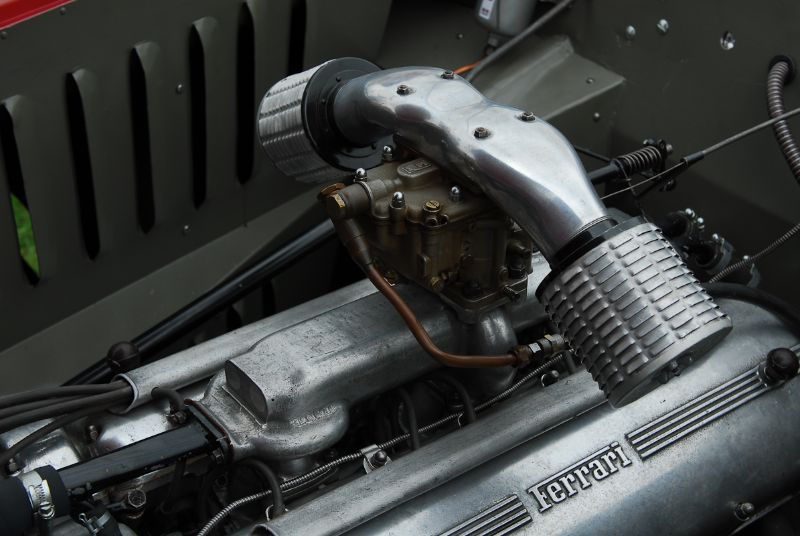 Motor detail of Mitch Eitel's 1950 166 MM Coupe.