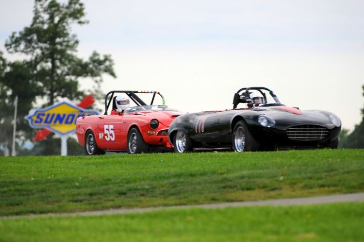 Max Heilman- 1971 Jaguar XKE and 1965 Sunbeam Tiger, Dale Akuszewski.